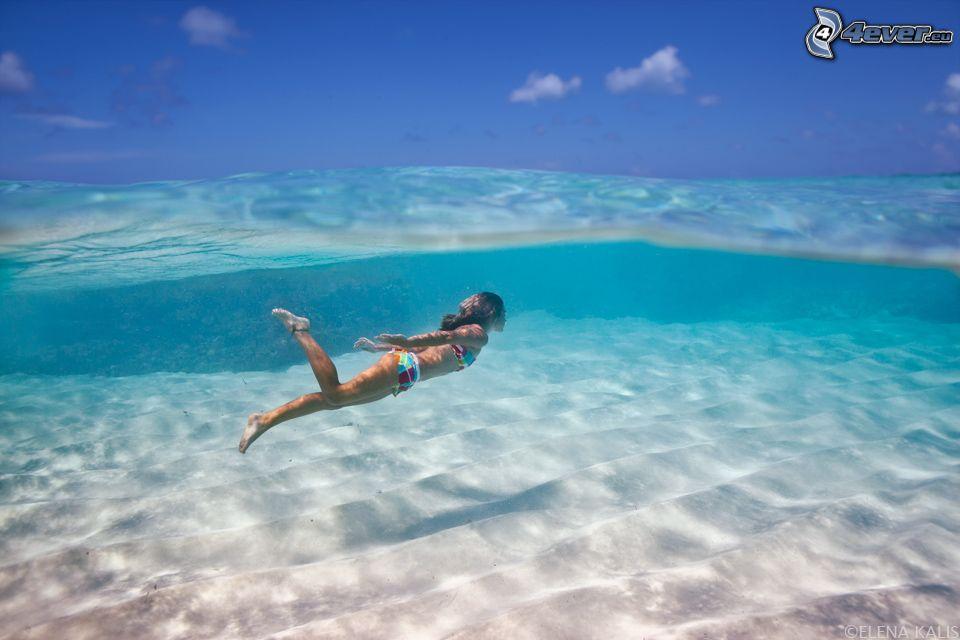 Сонник плавать в море с чистой водой